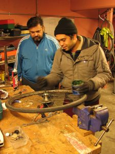 Darren and Francis the Lead Bicycle Mechanics